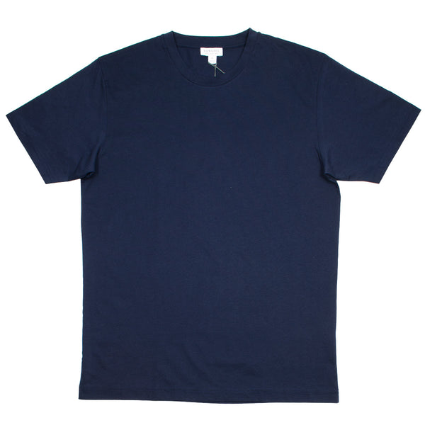 Sunspel - Short Sleeve Riviera Crew Neck T-shirt - Navy
