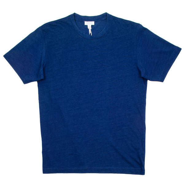 Sunspel - Short Sleeve Riviera Crew Neck T-shirt - Real Indigo