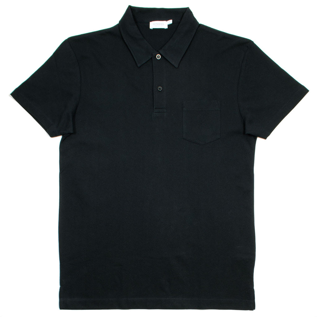 Sunspel - Short Sleeve Riviera Polo - Black