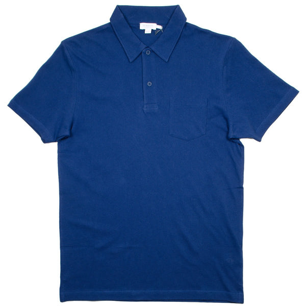 Sunspel - Short Sleeve Riviera Polo - Dark Indigo