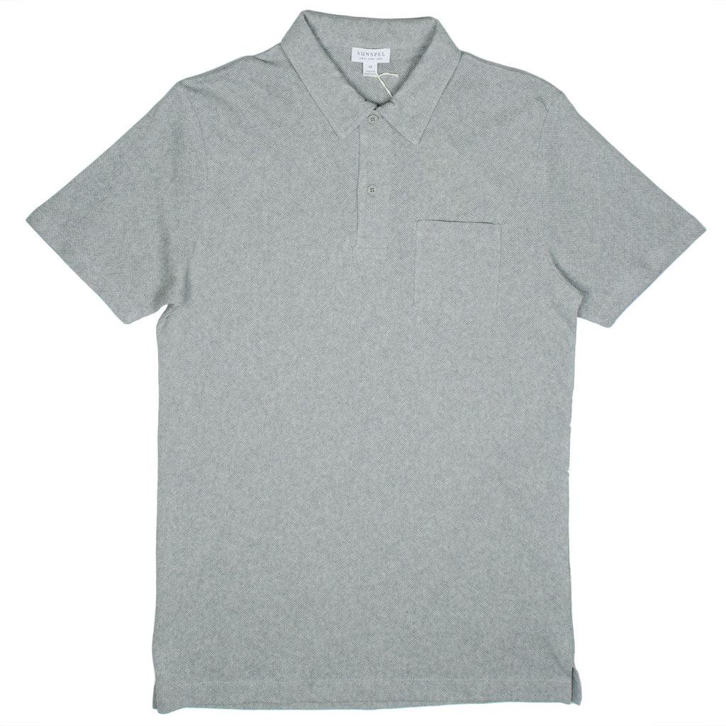 Sunspel - Short Sleeve Riviera Polo - Grey Melange