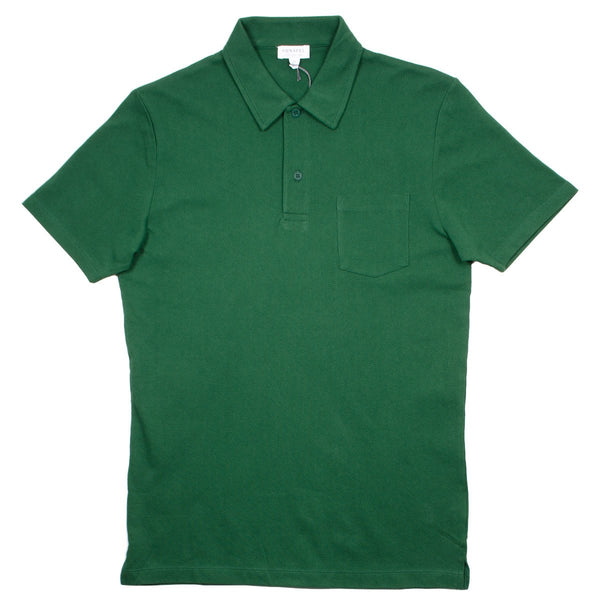 Sunspel - Short Sleeve Riviera Polo - Kale