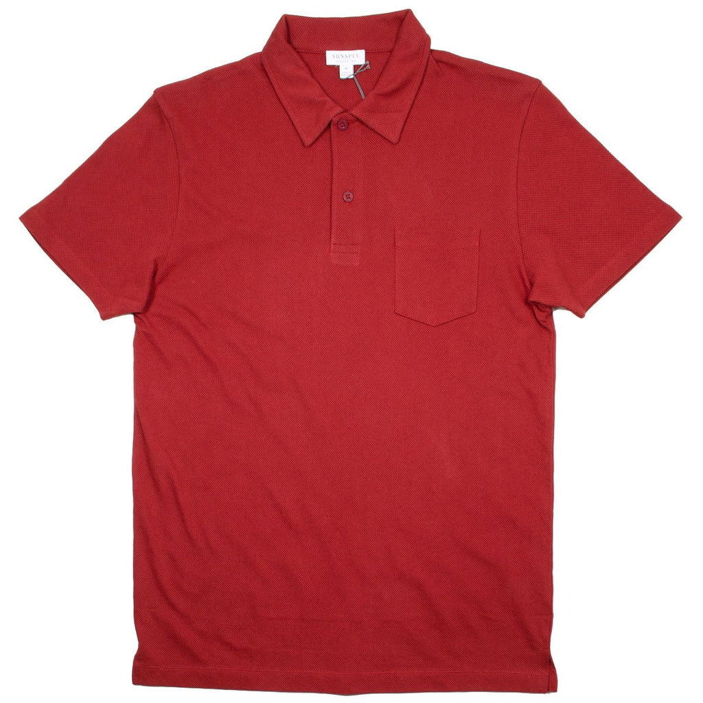 Sunspel - Short Sleeve Riviera Polo - Madder