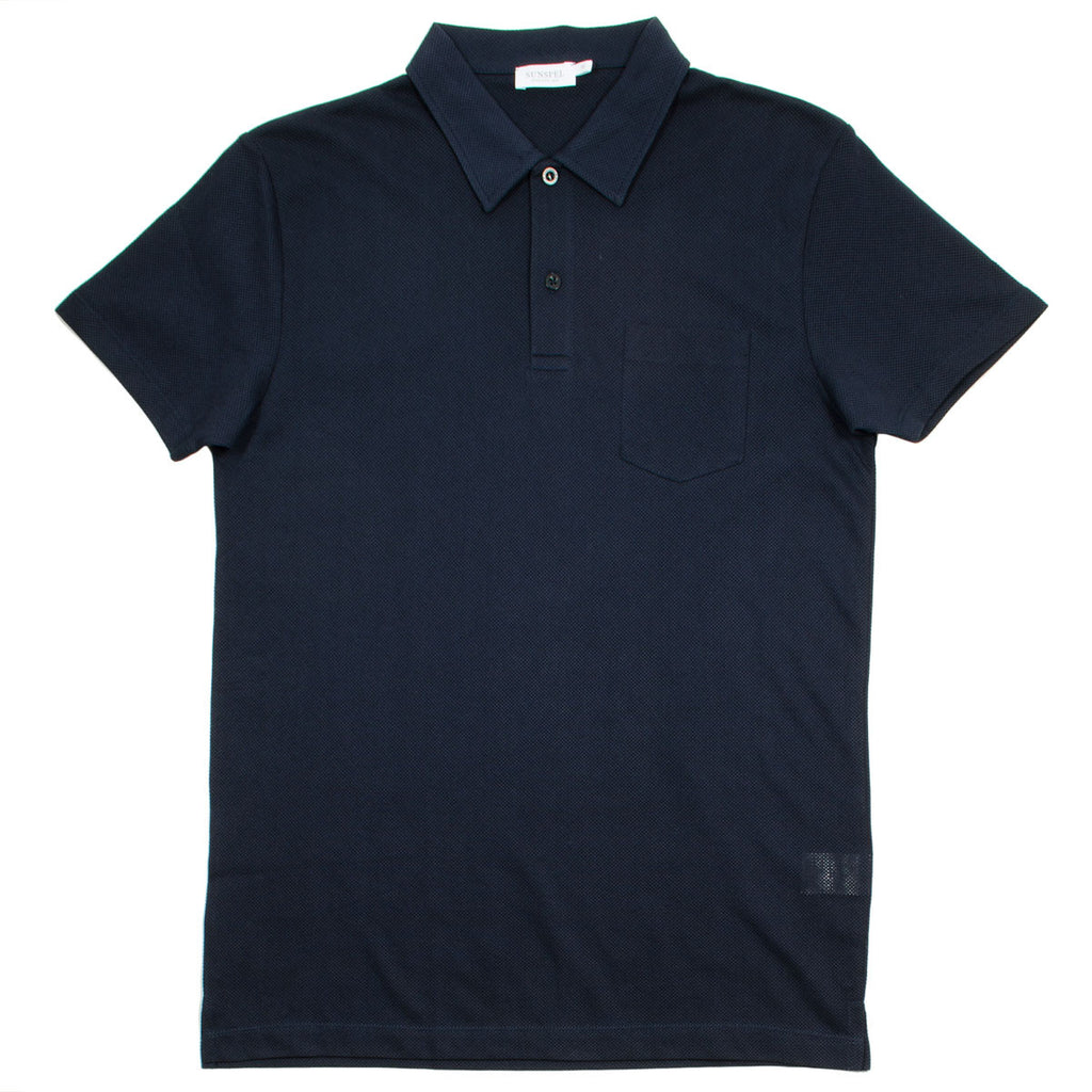 Sunspel - Short Sleeve Riviera Polo - Navy