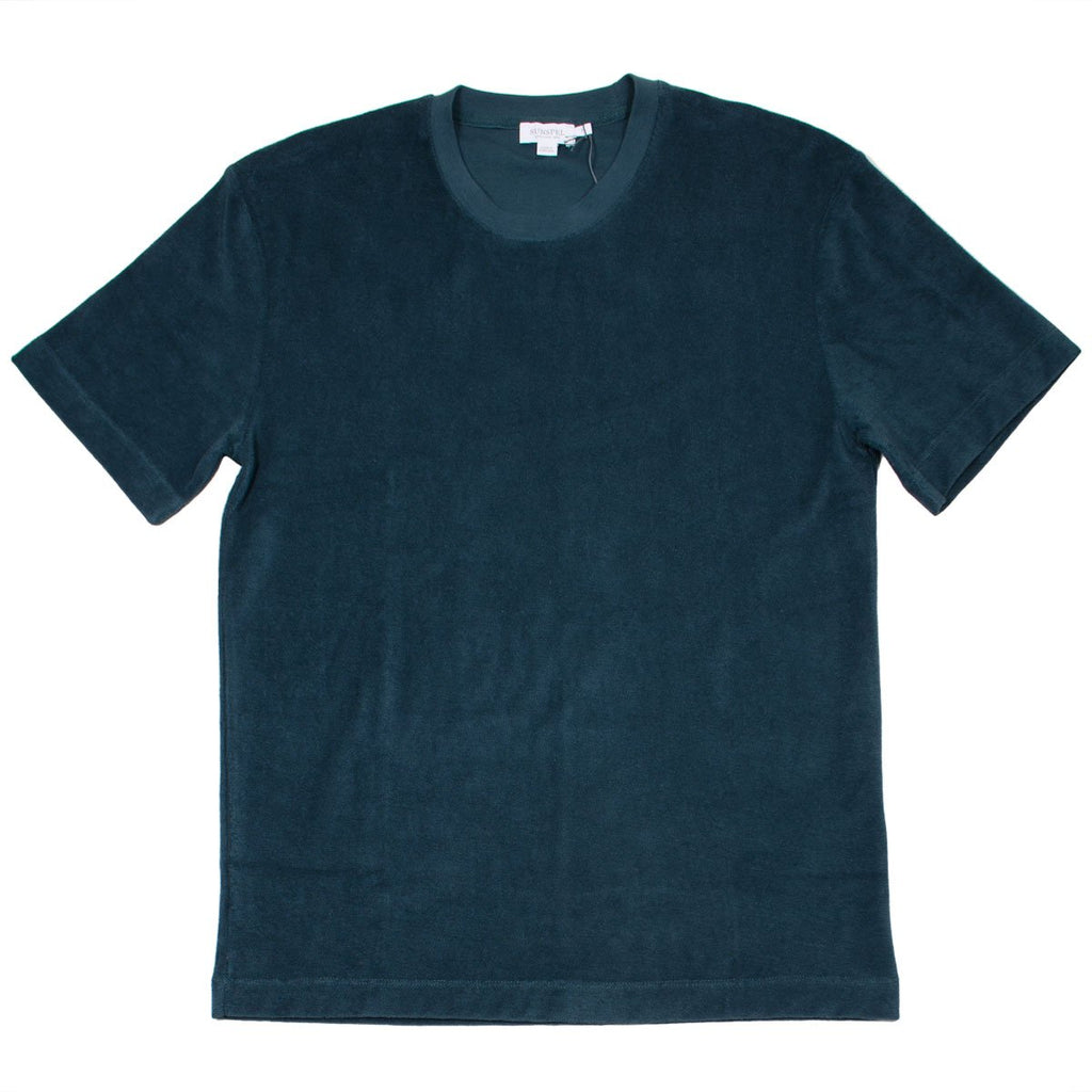Sunspel - Short Sleeve Terry T-shirt - Samphire