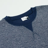 Sunspel - Top Reversed Crewneck Sweatshirt - Navy Melange