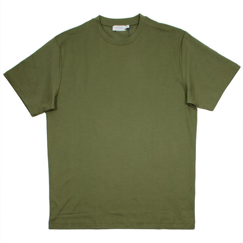 Sunspel - Short Sleeve Riviera Crew Neck T-shirt - Khaki Green