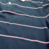 This Is Not A Polo Shirt. – Micro Trad Stripe Pocket Polo – Blue Nights