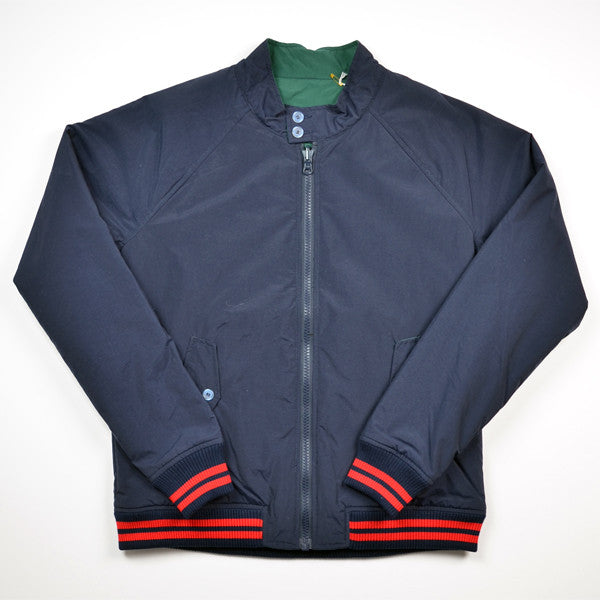 This Is Not A Polo Shirt. – Reversible Harrington Jacket – Navy / Green