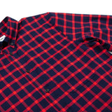Toka Toka - Peter Check Shirt - Navy / Red