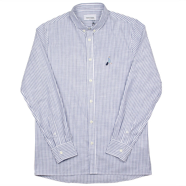Toka Toka - Peter Parasol Shirt - Blue (Navy Stripes)