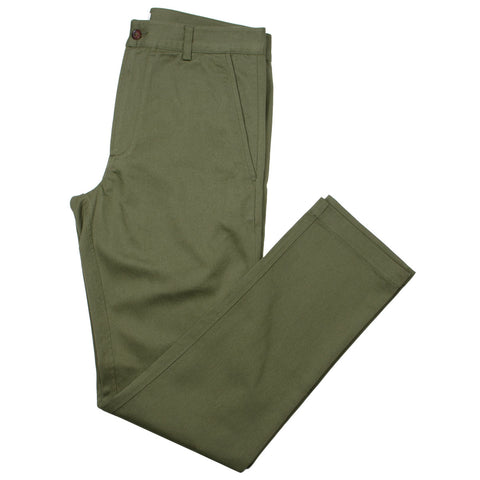 Universal Works - Aston Pant Twill - Light Olive