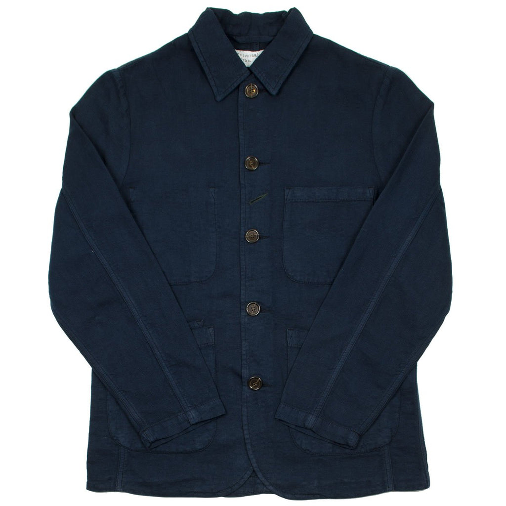 Universal Works - Bakers Jacket Broadcloth Cotton - Navy