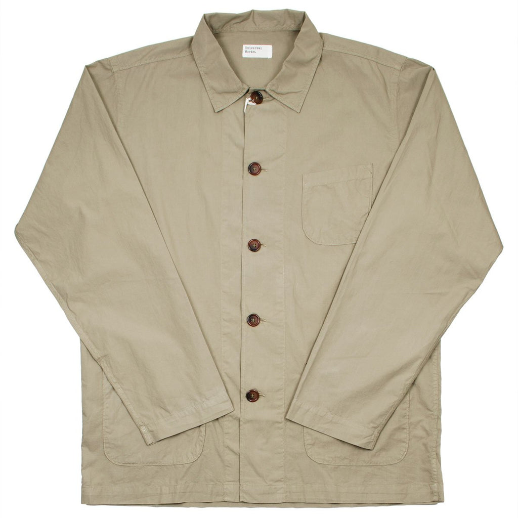 Universal Works - Bakers Overshirt Poplin - Warm Stone