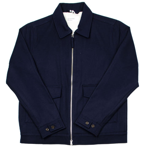 Universal Works - Battleman Jacket Twill Wool - Navy