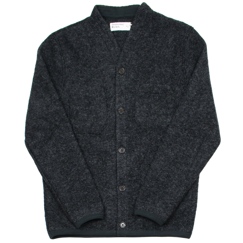 Universal Works - Cardigan Wool Fleece - Charcoal