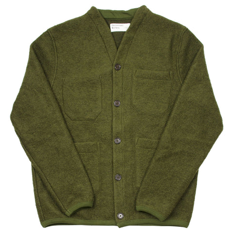 Universal Works - Cardigan Wool Fleece - Olive