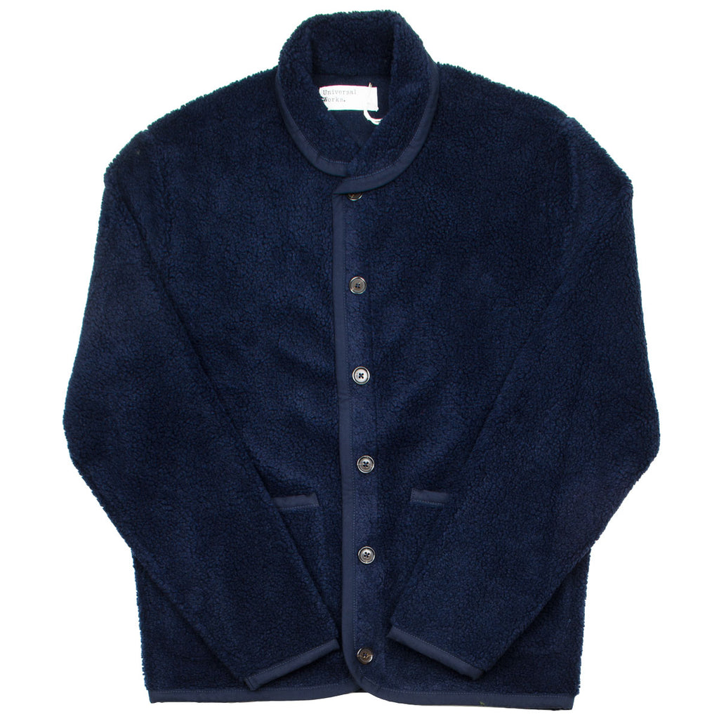 Universal Works - Lancaster Jacket Mountain Fleece - Navy