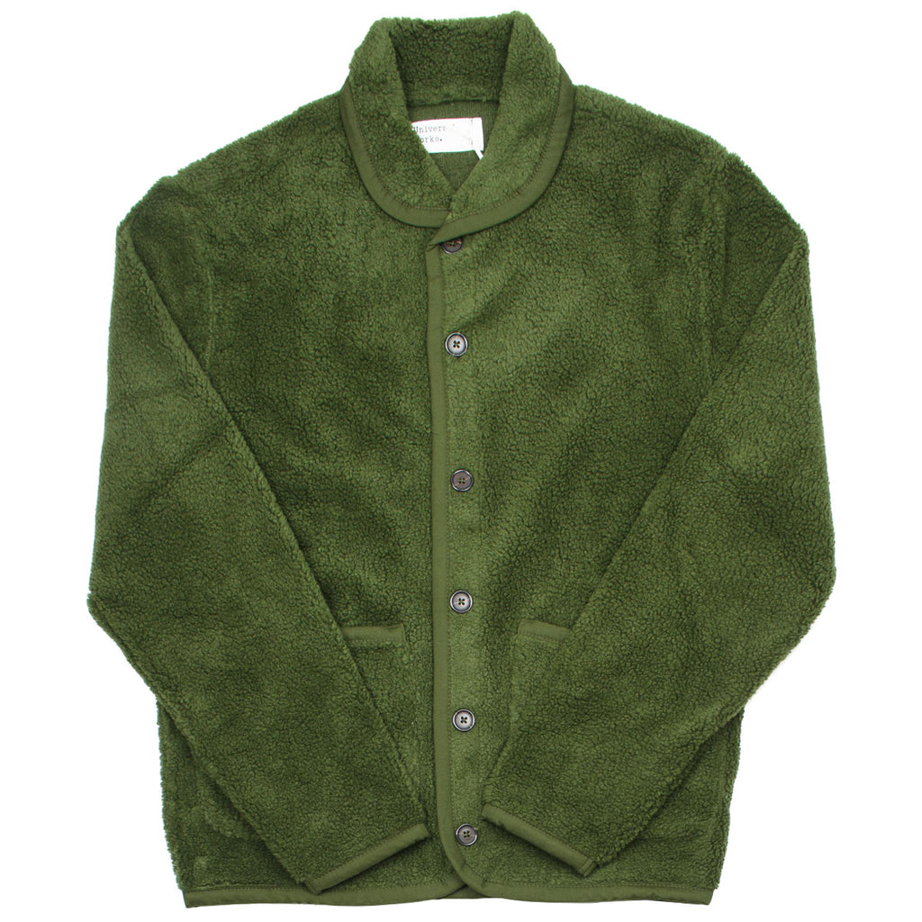 Universal Works - Lancaster Jacket Mountain Fleece - Olive
