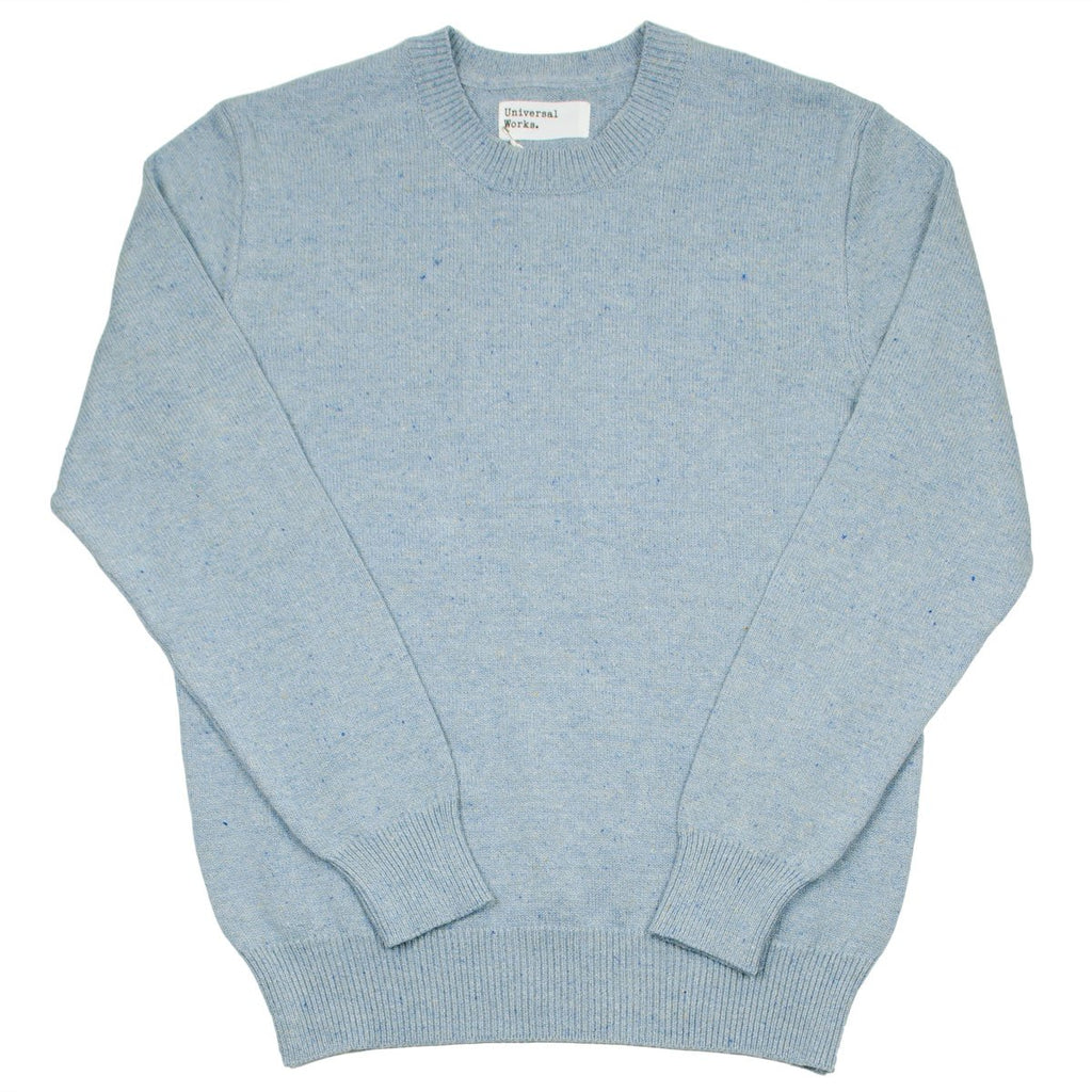 Universal Works - Loose Crew Jumer Cotton / Silk Knit - Cornish Blue