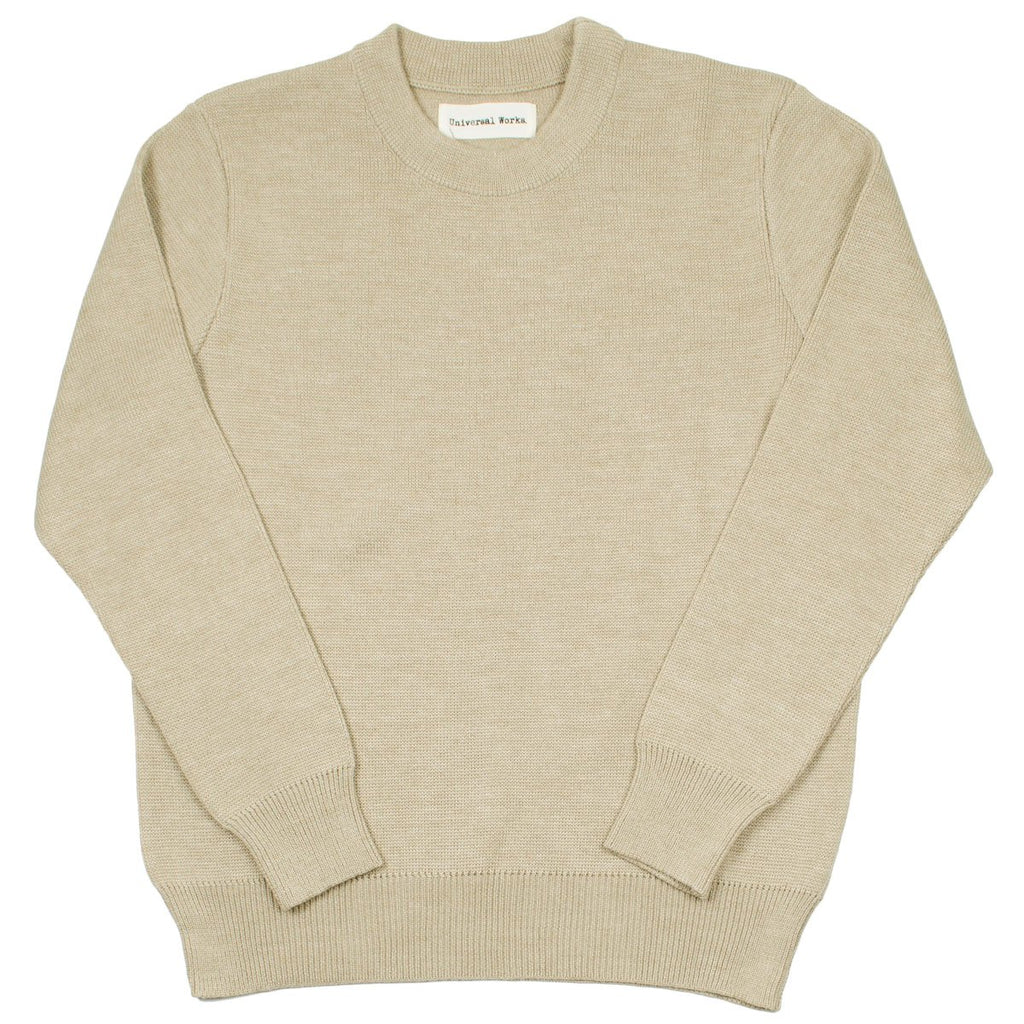 Universal Works - Loose Fisherman Jumper Merino ½ Milano - Aran