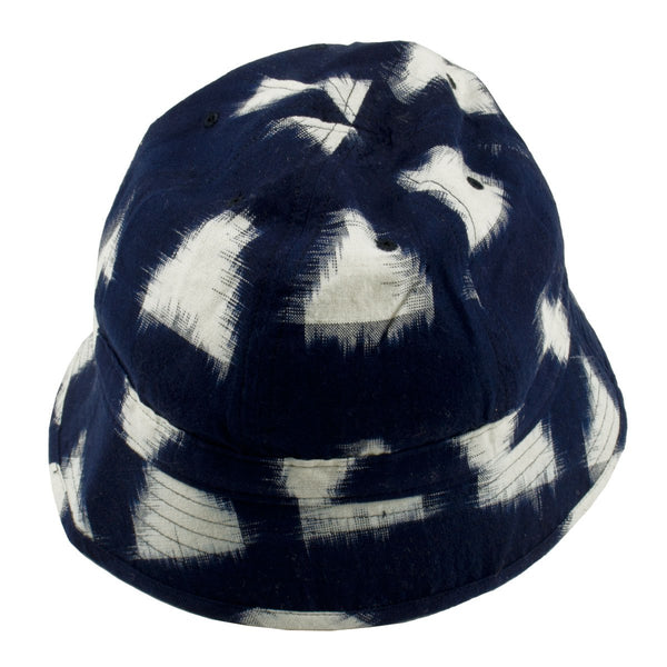 Universal Works - Naval Bucket Hat Ikat Arrow - Navy