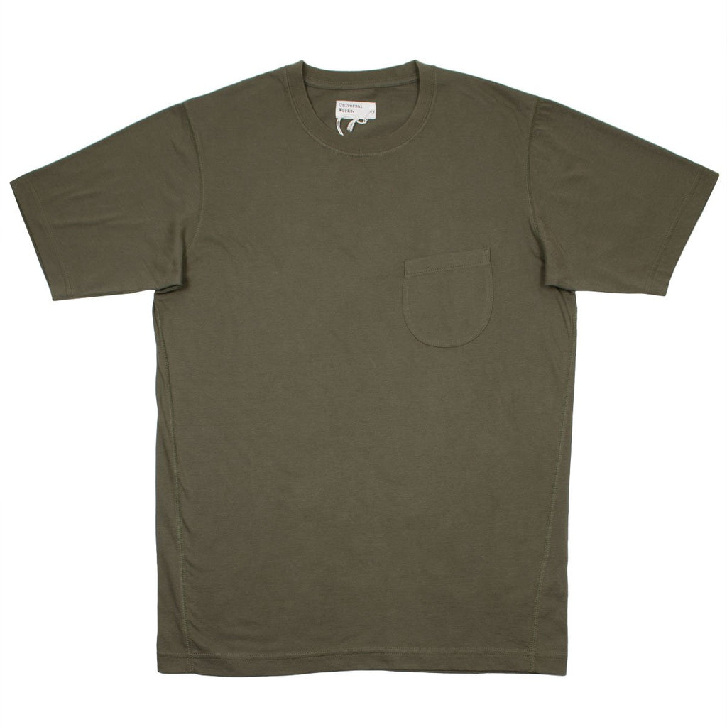 Universal Works - Pocket Tee Single Jersey - Olive