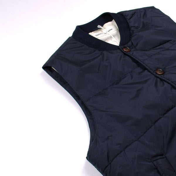 040516cc996 Universal Works - Quilted Gilet Italian Nylon - Navy – BEAUBIEN