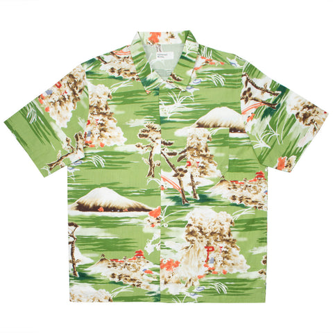 Universal Works - Road Shirt - Fuji Summer Print - Green
