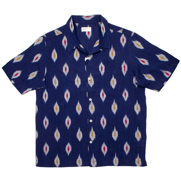 Universal Works - Road Shirt Ikat Multi Color - Indigo