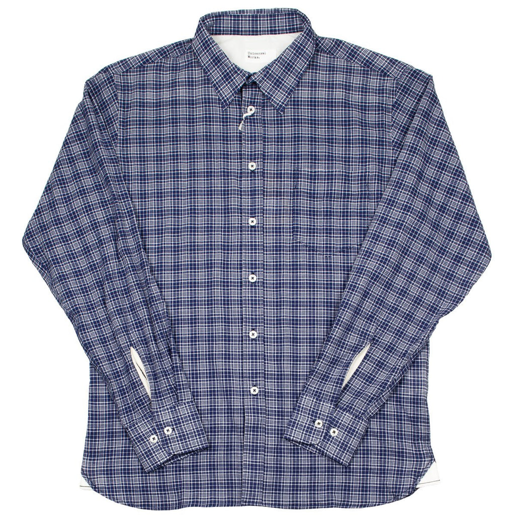 Universal Works - Standard Shirt Alex Fine Check - Navy