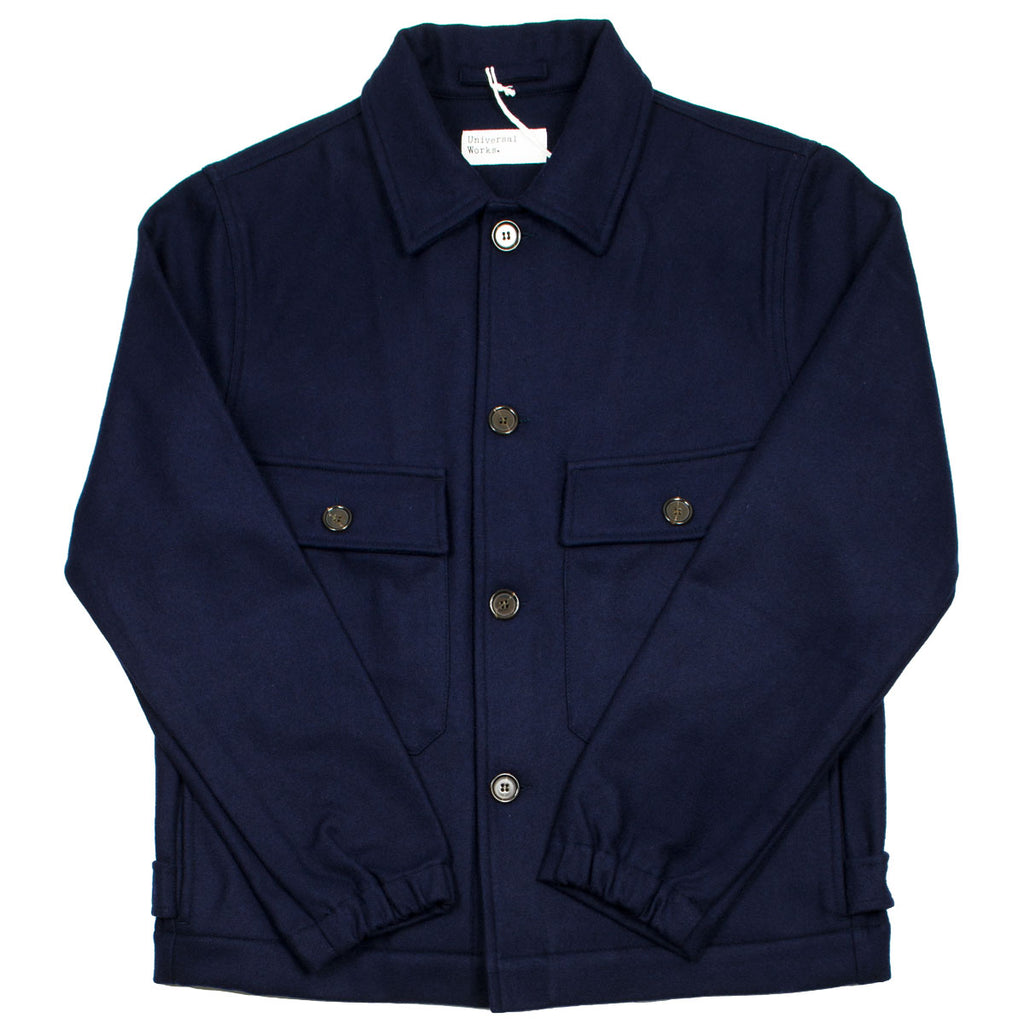Universal Works - Strummer Jacket Melton - Navy