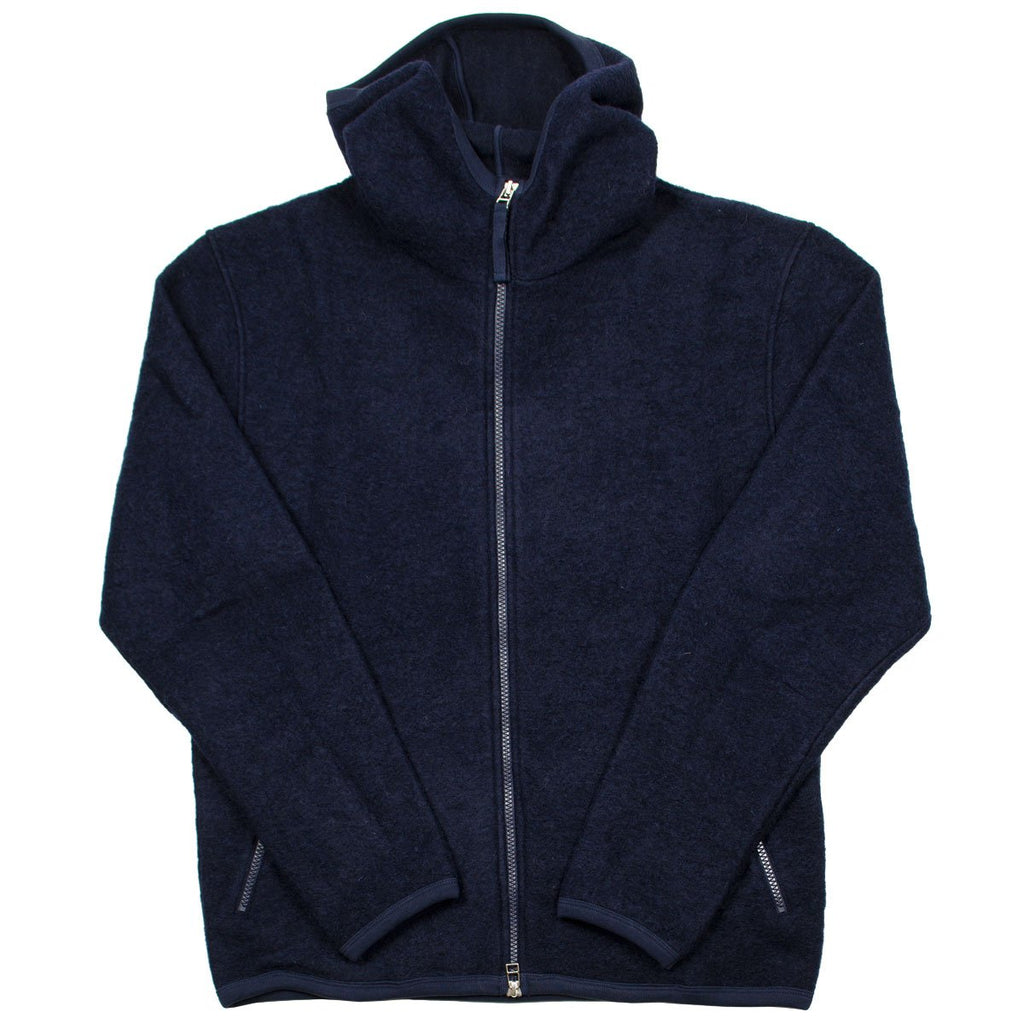 Universal Works - Surfer Hoodie Wool Fleece - Navy