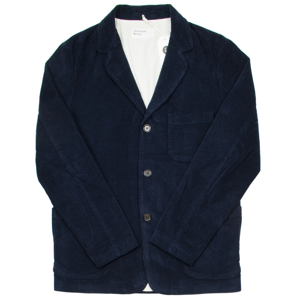 Universal Works - Three Button Jacket Cord - Navy
