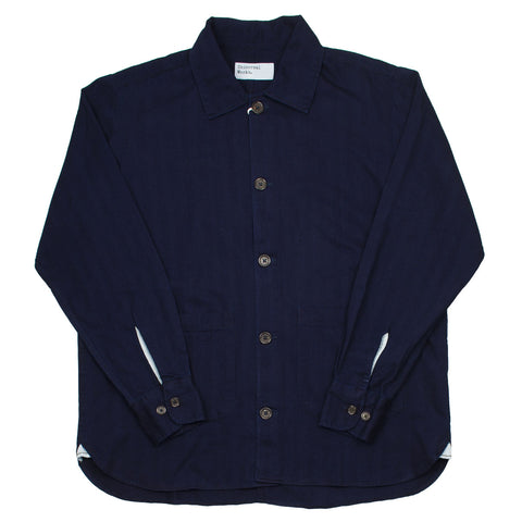 Universal Works - Travail Shirt Herringbone Denim - Indigo