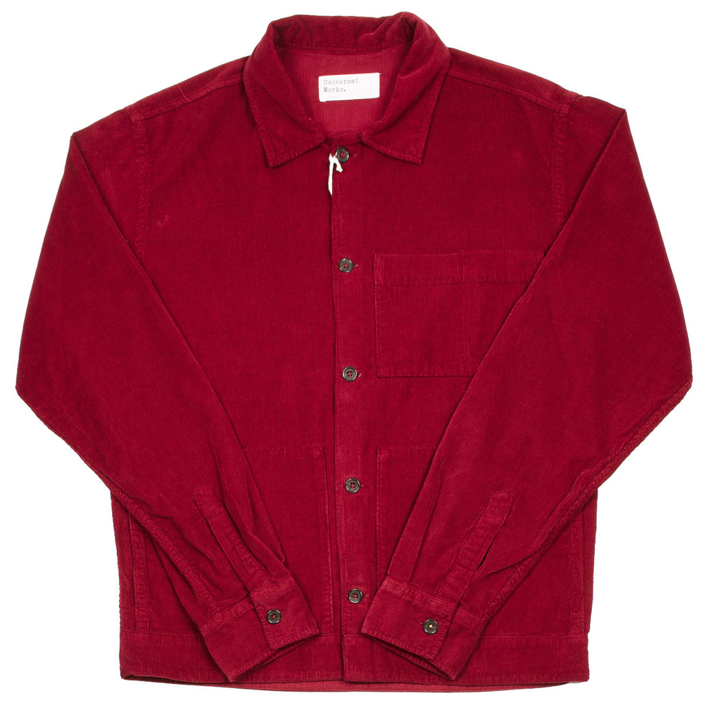 Universal Works - Uniform Shirt Fine Cord - Claret