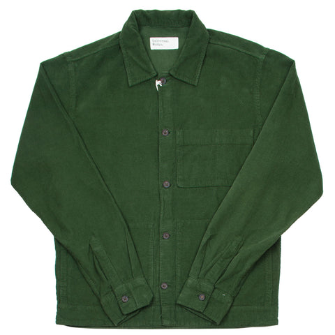 Universal Works - Uniform Shirt Fine Cord - Green