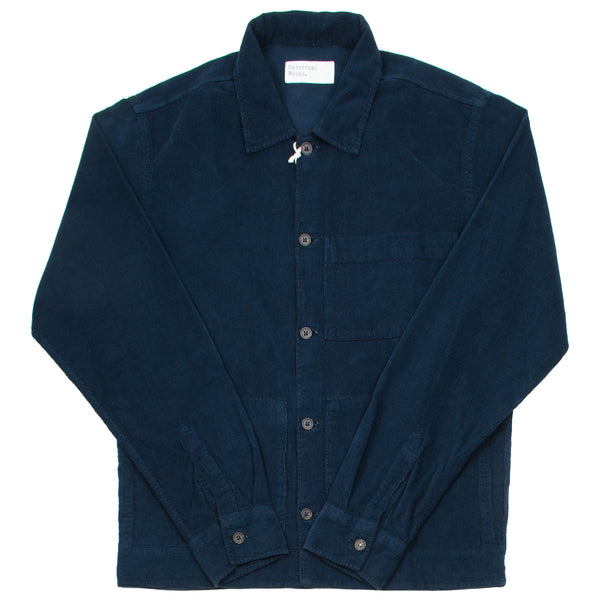 Universal Works - Uniform Shirt Fine Cord - Navy
