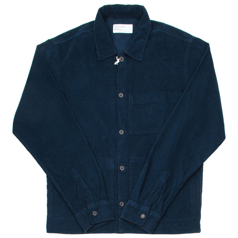 Universal Works - Uniform Shirt Fine Corduroy - Navy