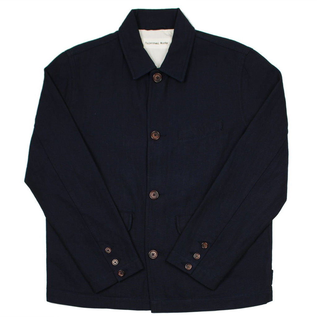 Universal Works - Wamus Jacket Denim Herringbone - Indigo