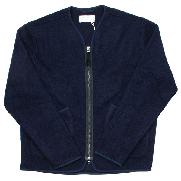 Universal Works - Zip Liner Jacket Wool Fleece - Navy