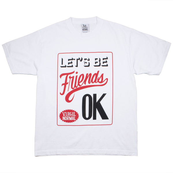 Virgil Normal - Let's Be Friends T-shirt - White