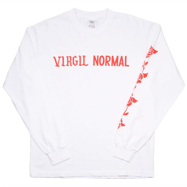 Virgil Normal - Roses LS T-shirt - White