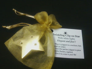 Clip-On-Star-12 to a box $54.00.  (Available in gold and silver)  Call for BULK PRICING.
