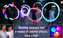 "2"" Lite up Ball on blue 30"" bungie cord necklace"