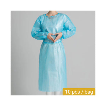 Level 2 Disposable Isolation Gown (10 pcs) - Elastic Cuff