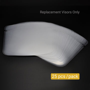 MiMM Replacement Visors for FS011008 (25 pcs)