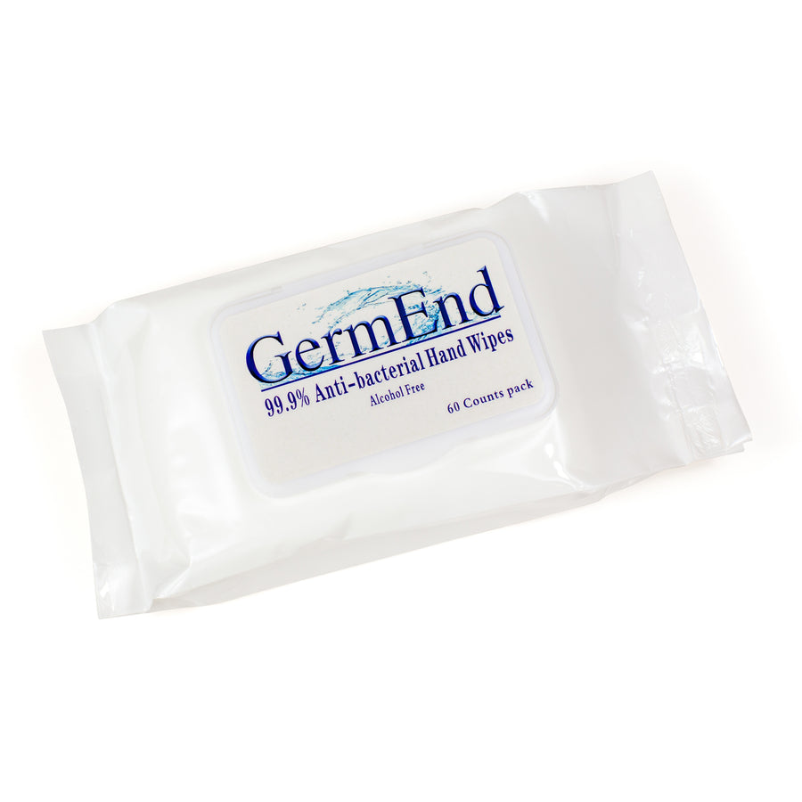 GermEnd Alcohol Free Disinfectant Wipes - 60 ct pack