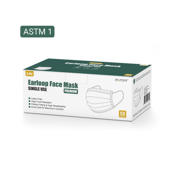 MiMM Premium Earloop Face Mask (50 pcs)