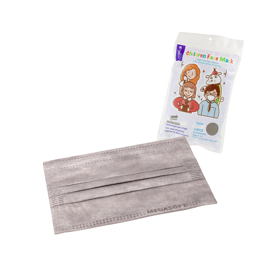 Children Face Mask - Longer Ear Straps Gray